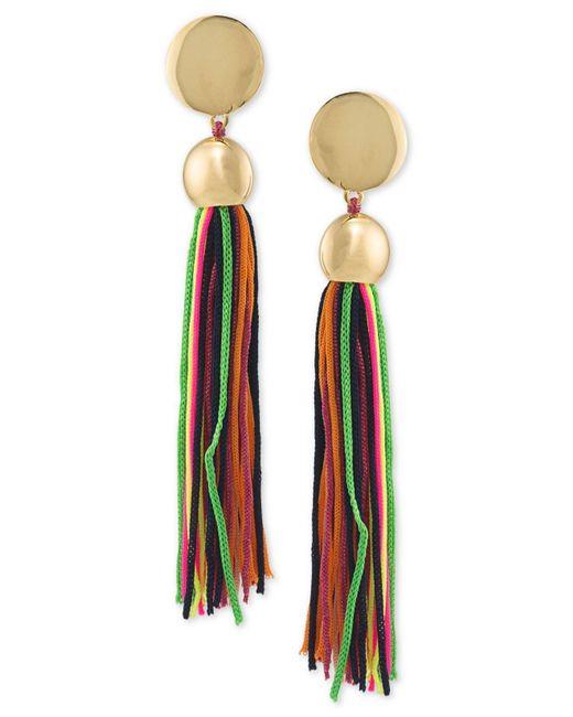 Trina Turk | Metallic Gold-tone Multicolor Tassel Drop Earrings | Lyst