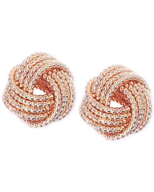 Nine West | Metallic Gold-tone Knot Stud Earrings | Lyst