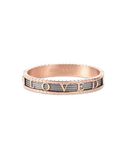 Charriol Metallic 4ever Loved Bangle Bracelet In Pvd Stainless Steel & Rose Gold-tone