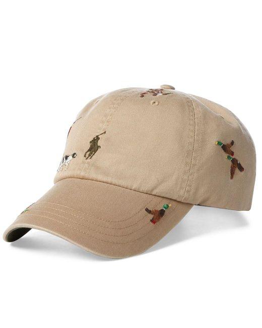 25982d65523 Polo Ralph Lauren - Natural Chino Baseball Cap for Men - Lyst ...