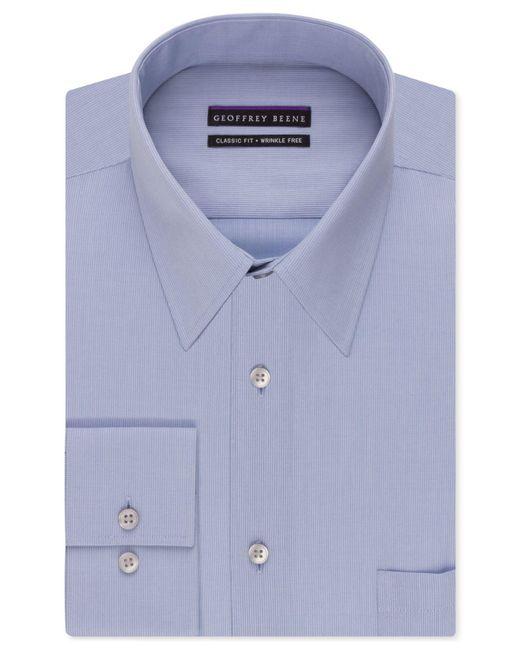 Geoffrey Beene - Blue Men's Classic-fit Wrinkle Free Bedford Cord Dress Shirt for Men - Lyst