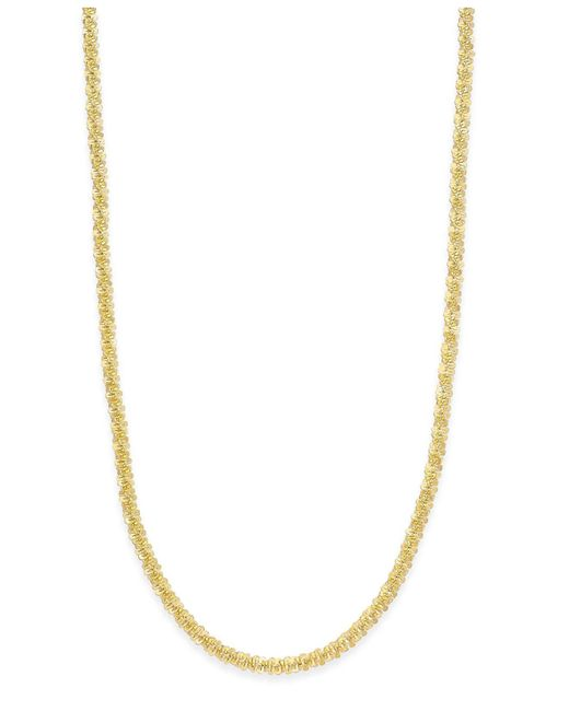 Giani Bernini   Metallic Sparkle Link Chain Necklace In 18k Gold-plated Sterling Silver   Lyst