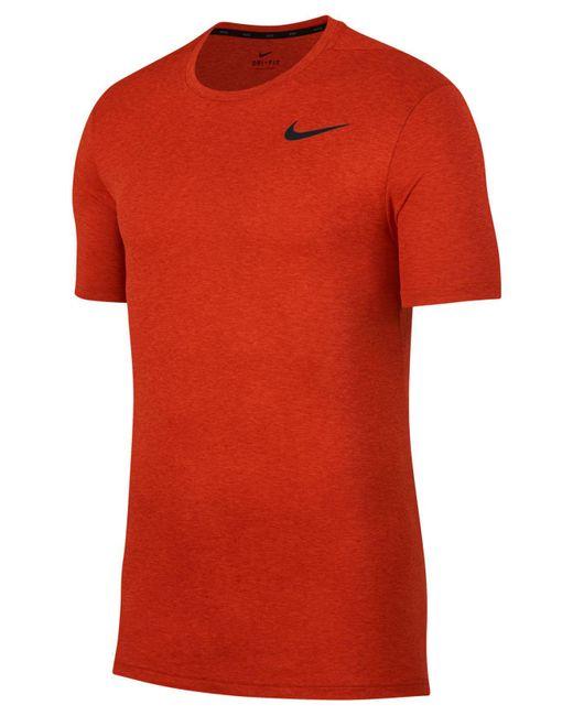 Nike - Orange Breathe Hyper Dry Training Top for Men - Lyst