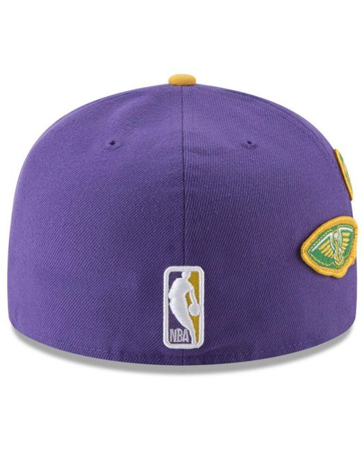 premium selection 50dab 68201 ... KTZ - Purple New Orleans Pelicans City On-court 59fifty Fitted Cap for  Men ...