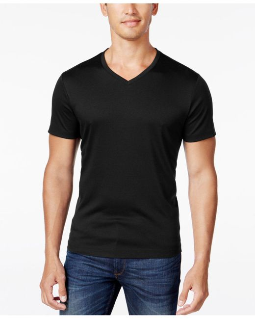 Alfani | Black Men's Soft Touch Stretch T-shirt, Only At Macy's for Men | Lyst