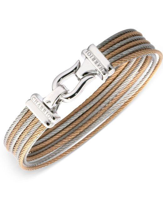 Charriol - Multicolor Women's Two-tone Cable Bangle Bracelet - Lyst