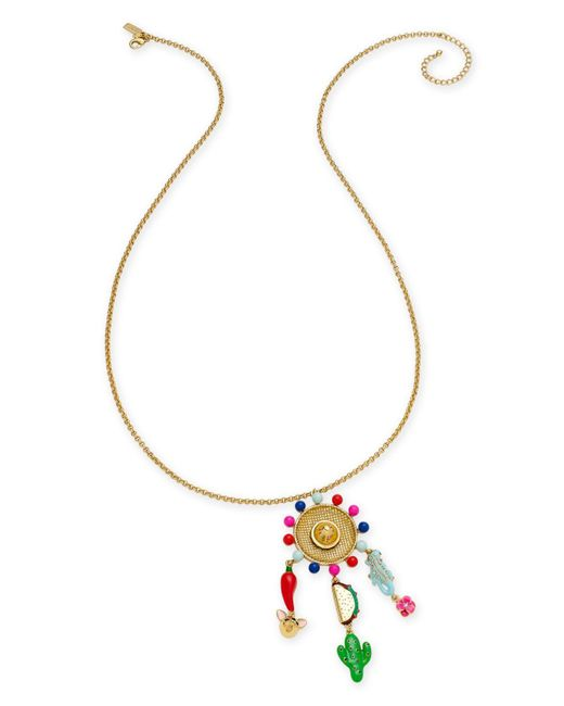 Kate Spade | Metallic Gold-tone Fiesta-motif Pendant Necklace | Lyst