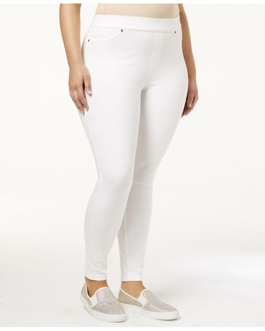 Hue - White Original Jean Plus Leggings - Lyst