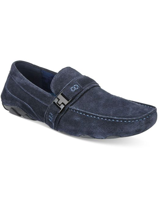 Kenneth Cole Reaction   Blue Men's Toast 2 Me Suede Drivers for Men   Lyst