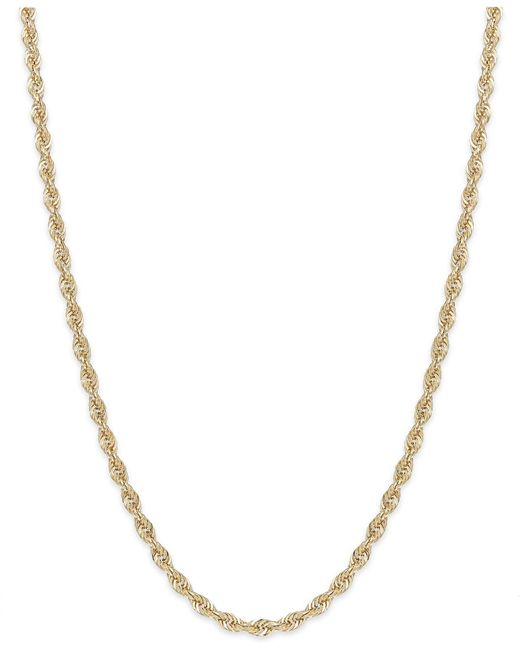 Macy's | Metallic Rope Chain Necklace In 14k Gold (1-4/5mm) | Lyst