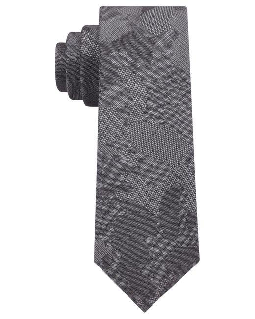DKNY - Gray Camo Florals Slim Tie for Men - Lyst