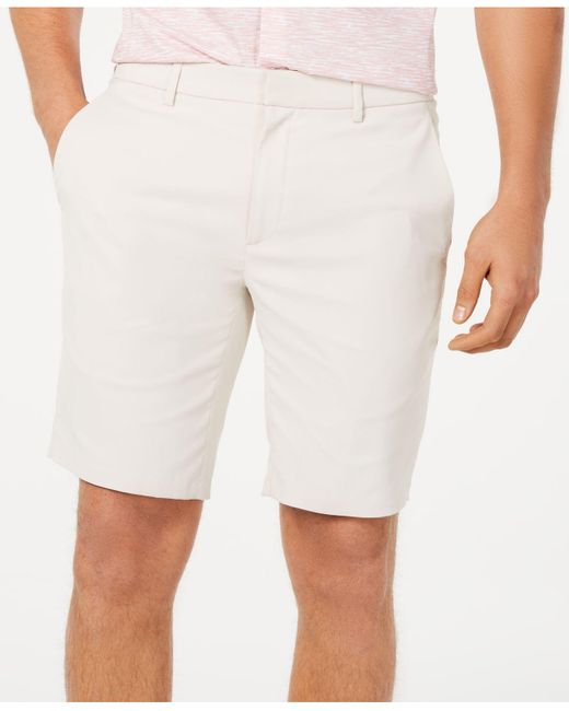 """Alfani White Alfatech Stretch Waistband 9"""" Shorts, Created For Macy's for men"""