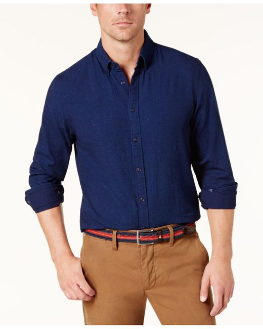 Tommy Hilfiger | Blue Men's New York-fit Shirt for Men | Lyst