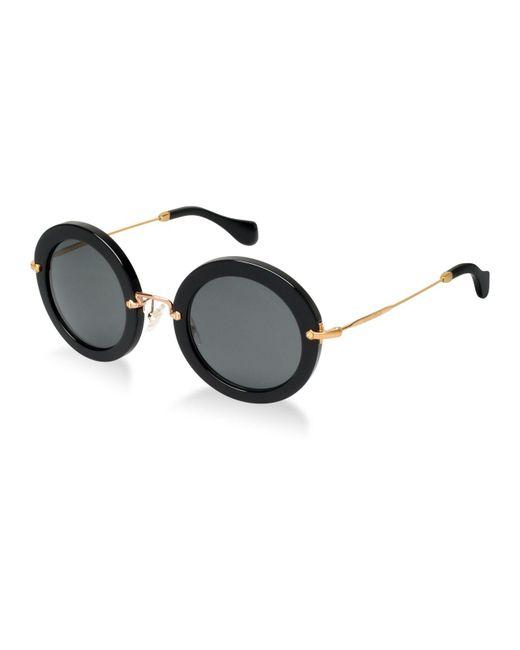 Miu Miu Black Sunglasses, Mu 13ns