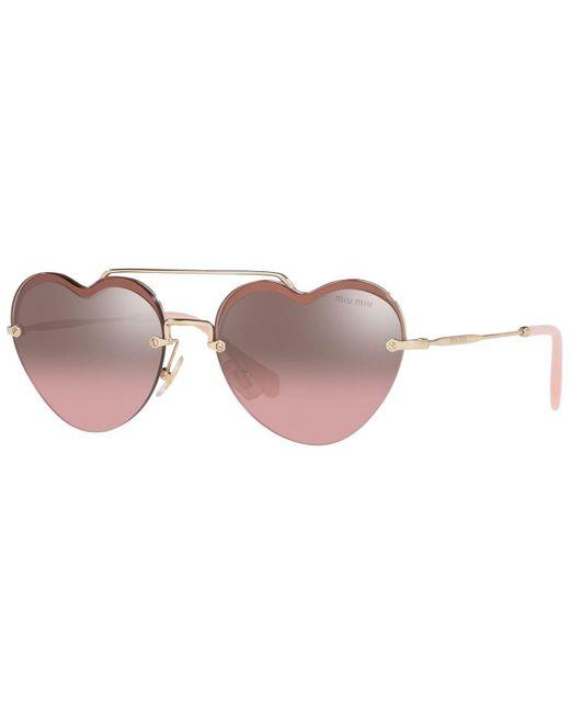 Miu Miu Multicolor Sunglasses, Mu 62us 58