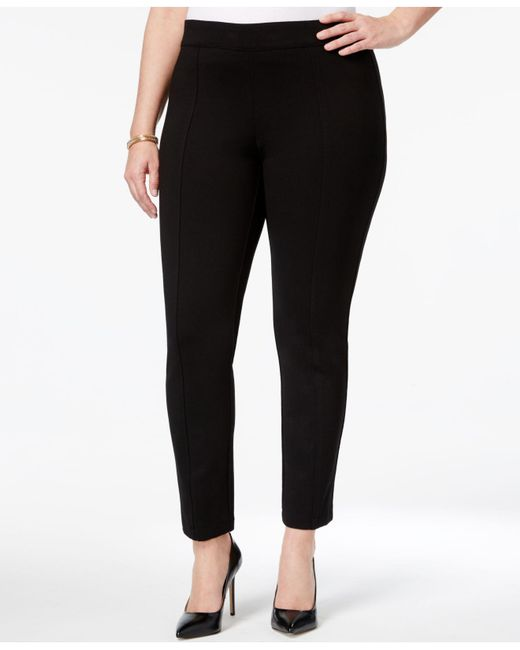 Anne Klein - Black Plus Size Skinny Ankle Pants - Lyst