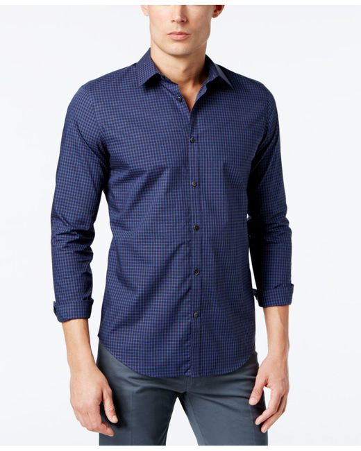 CALVIN KLEIN 205W39NYC - Blue Infinite Cool Non-iron Slim-fit Shirt for Men - Lyst