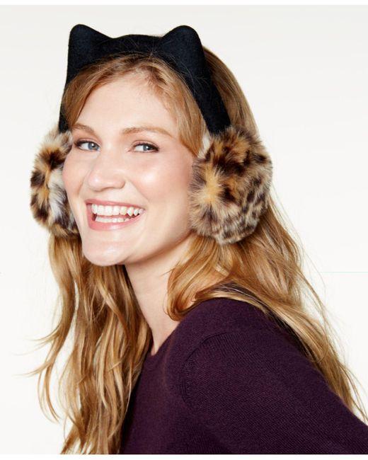 Kate Spade | Brown Cat Earmuffs | Lyst