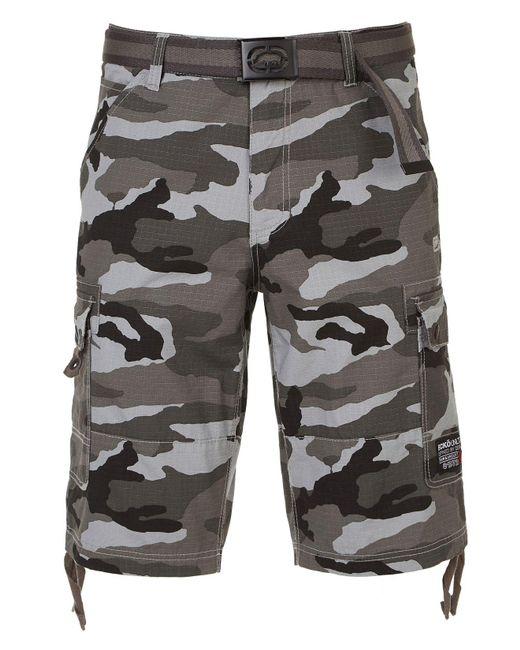 Ecko' Unltd Gray Sweltering 19 Cargo Short for men
