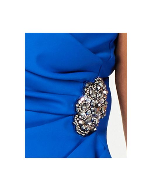 932490a59e ... Alex Evenings - Blue Plus Size Side-ruched Surplice Sheath Dress - Lyst