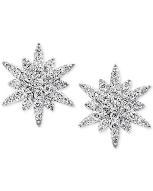 Effy Collection - Metallic Diamond Starburst Stud Earrings (1-1/3 Ct. T.w.) In 14k White Gold - Lyst