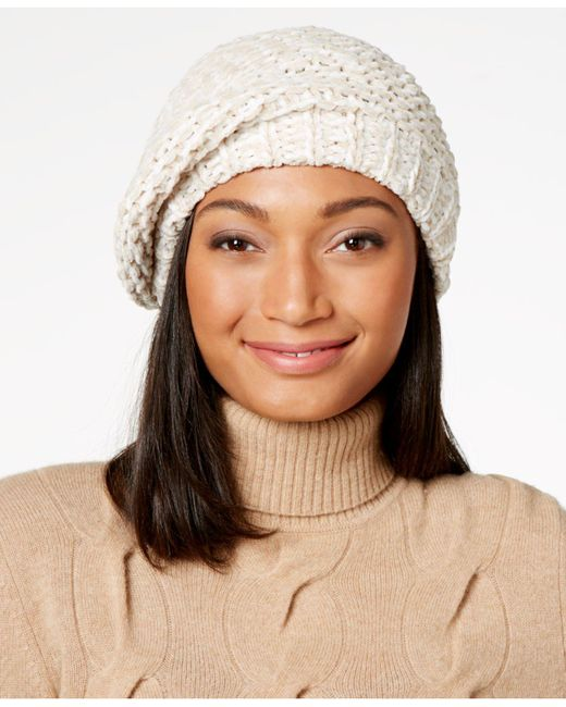 Charter Club | Brown Velvety Marled Chenille Beret | Lyst