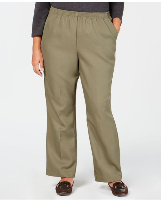 bfd0ac1b19d Karen Scott - Green Plus-size Mid-rise Pull-on Pants