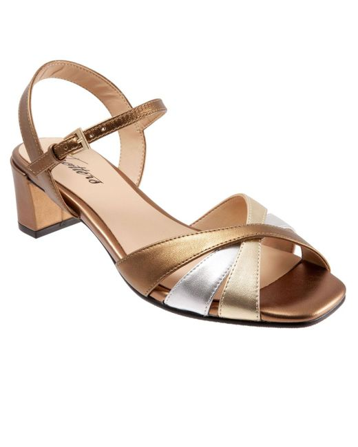 Trotters Metallic Majesty Strappy Sandal
