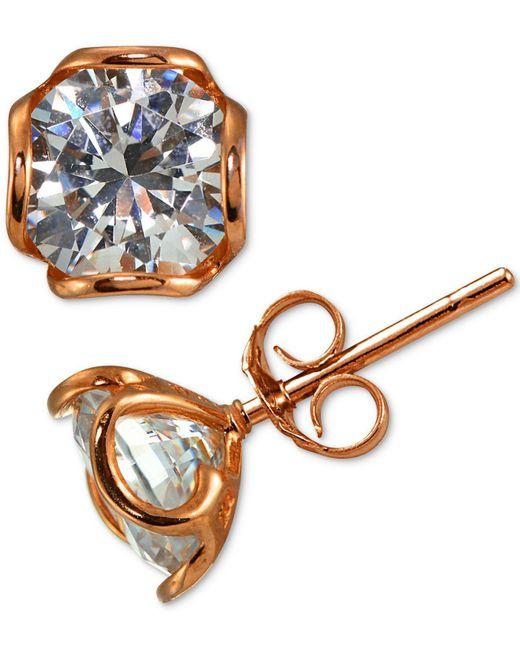Giani Bernini - Metallic Cubic Zirconia Wavy Edge Stud Earrings - Lyst