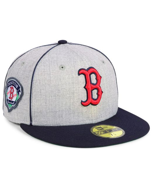 reputable site f36f3 3c058 KTZ - Multicolor Boston Red Sox Stache 59fifty Fitted Cap for Men - Lyst ...
