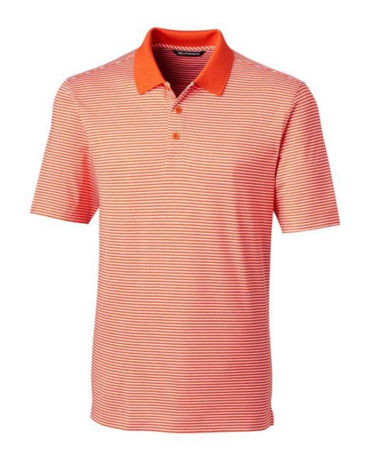 Cutter & Buck Orange Big & Tall Forge Tonal Stripe Polo for men
