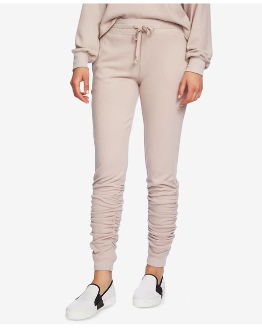 1.STATE - Multicolor Ruched Jogger Pants - Lyst