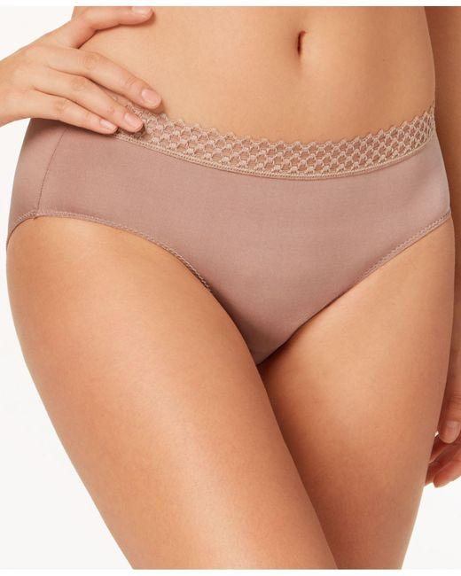 B.tempt'd - Natural Tied In Dots Lace-waist Bikini 978238 - Lyst