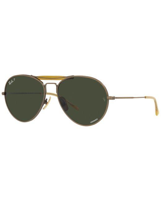 Ray-Ban Multicolor Unisex Polarized Sunglasses, Rb8063 55 Titanium