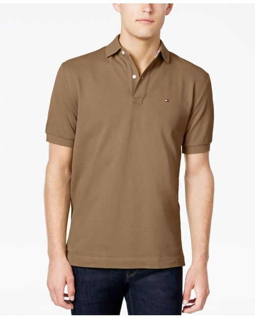 Tommy Hilfiger | Brown Custom-fit Ivy Polo for Men | Lyst