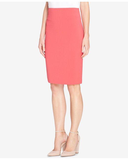 Tahari | Pink High-waist Pencil Skirt | Lyst
