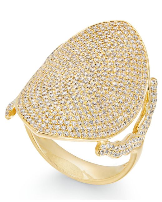 Macy's - Metallic Diamond Pavé Dome Ring (1-1/2 Ct. T.w.) In 14k Gold - Lyst
