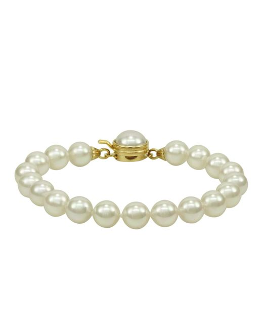 Majorica | White 18k Gold Over Sterling Silver Organic Man Made Pearl | Lyst