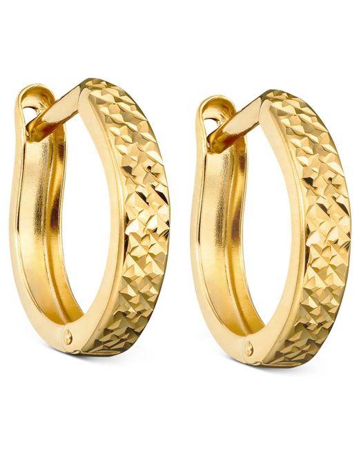 Macy's Metallic 10k Gold Hoop Earrings