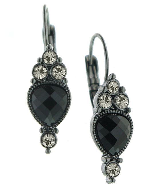 2028   Black Earrings, Reverse Teardrop   Lyst