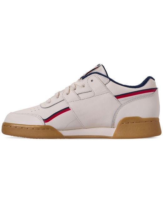 ... Reebok - White Workout Plus Mu Casual Sneakers From Finish Line for Men  - Lyst ... 8e6c8362d