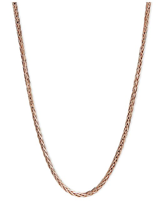 "Macy's - Multicolor 14k Rose Gold Necklace, 20"" Wheat Chain (9/10mm) - Lyst"