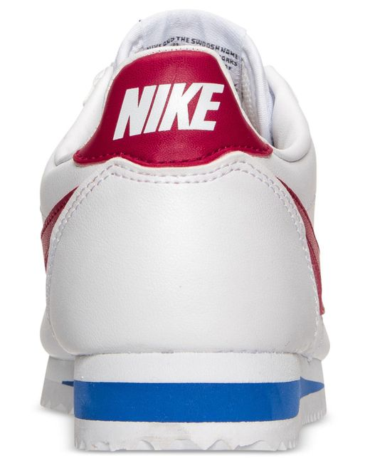 best website df594 43dc1 Women's White Classic Cortez Leather Casual Sneakers From Finish Line