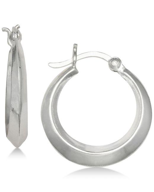 Giani Bernini | Metallic Gradient Edged Hoop Earrings In Sterling Silver | Lyst