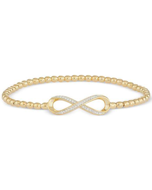 Wrapped in Love - Metallic Diamond Infinity Bead Bracelet (1/6 Ct. T.w.) In 14k Gold Over Sterling Silver - Lyst