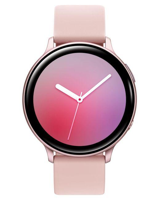 Samsung Pink Galaxy Active 2 Blush Silicone Strap Touchscreen Smart Watch 44mm