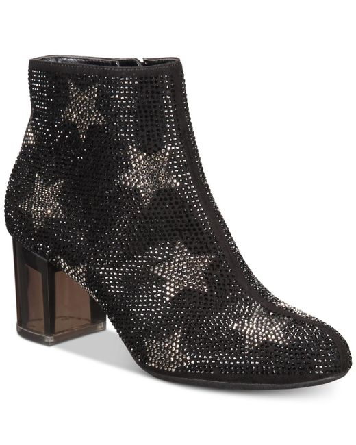 INC International Concepts - Black I.n.c. Floriann Block-heel Ankle Booties, Created For Macy's - Lyst