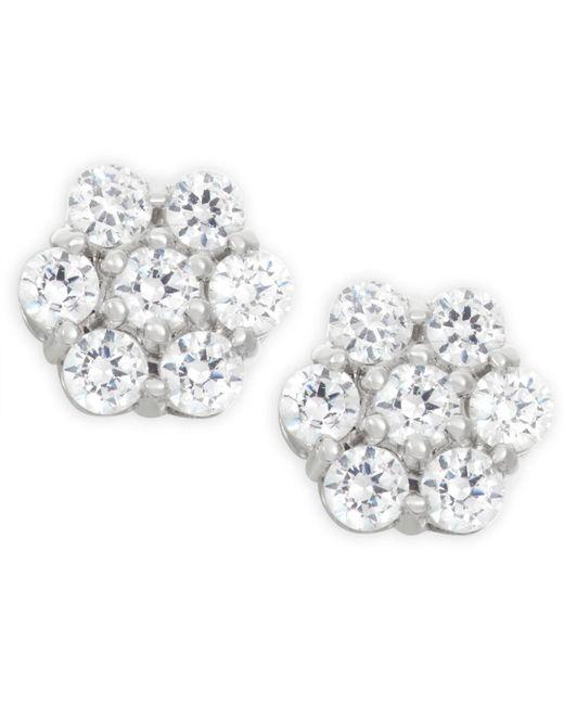 Wrapped in Love - Metallic Diamond Cluster Earrings (1 Ct. T.w.) In 14k White Gold - Lyst