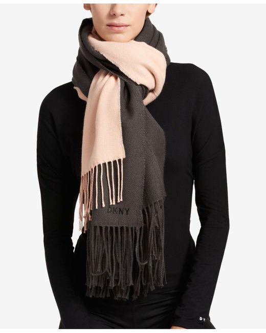 DKNY | Gray Double Woven Wrap | Lyst
