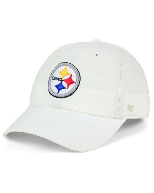 1146dda5 Men's White Pittsburgh Steelers Clean Up Strapback Cap